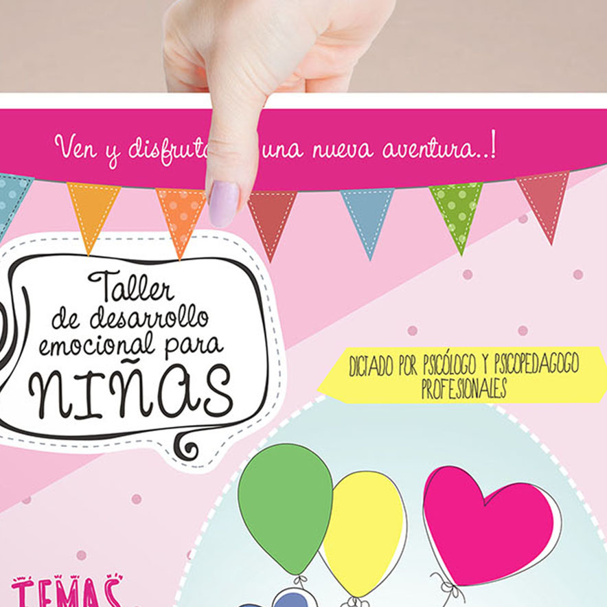 Afiche Para Taller de Psicología Infantil