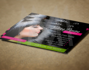 Business Card Yenny- Diseño por Marielba Moreno Diseño Gráfico