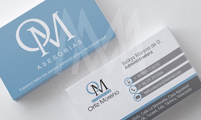 Asesorias - Ortiz Moreno - Tarjeta doble cara