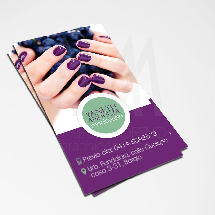 Business Card Yaneth- Diseño por Marielba Moreno Diseño Gráfico