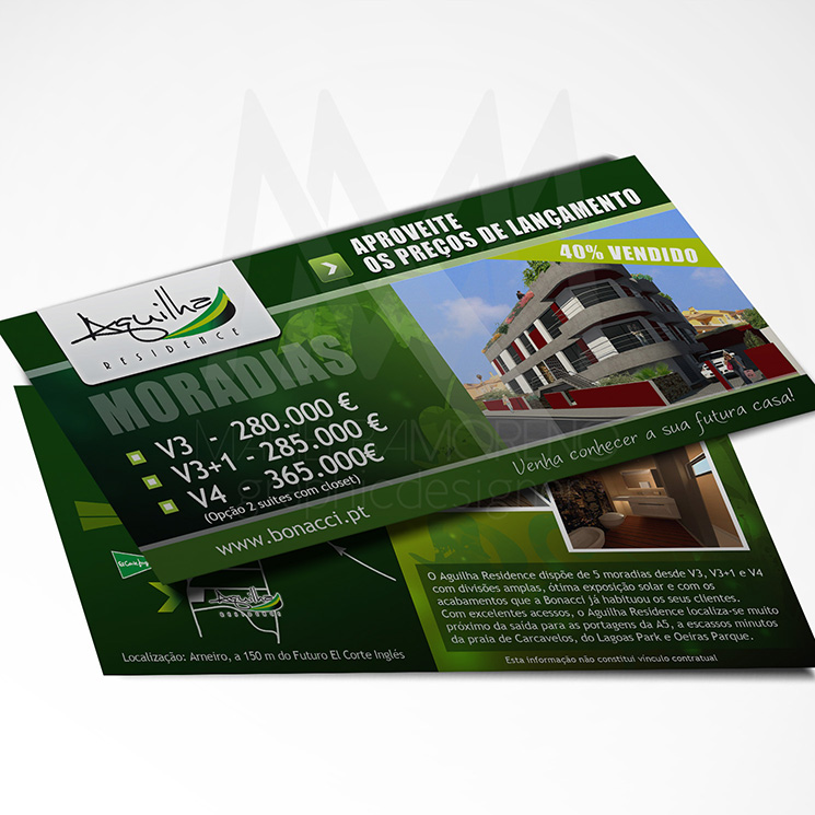 Volante Aguilha Residence - Diseño por Marielba Moreno Diseño Gráfico
