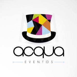 Logo Acqua Eventos - Diseño por Marielba Moreno Diseño Gráfico