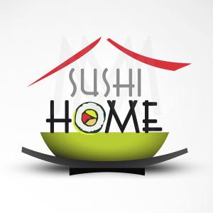 Logo Sushi Home - Diseño por Marielba Moreno Diseño Gráfico