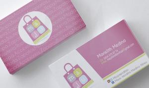 carta de visita MAju tiendita - Diseño por Marielba Moreno Diseño Gráfico