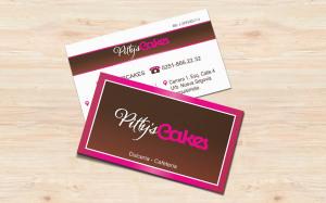 Carta de visita Pitty's-Cakes - Diseño por Marielba Moreno Diseño Gráfico