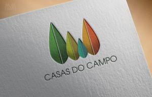 Realistic Logo Casas do Campo - Diseño por Marielba Moreno Diseño Gráfico