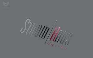Spot UV Logo StudioHaus - Diseño por Marielba Moreno Diseño Gráfico
