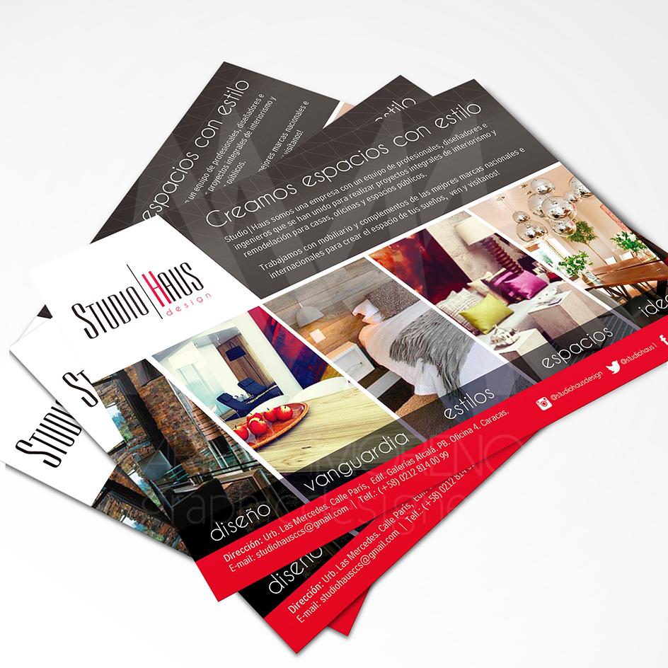 Volante Studio Haus - Diseño por Marielba Moreno Diseño Gráfico