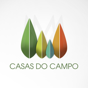 Logo Casas do Campo - Diseño por Marielba Moreno Diseño Gráfico