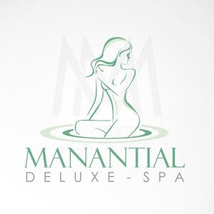 Logo Manantial Spas - Diseño por Marielba Moreno Diseño Gráfico