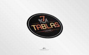 Logo 7 Tablas - Diseño por Marielba Moreno Diseño Gráfic