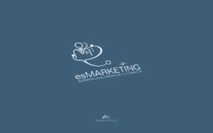 Logo Es Marketing - Diseño por Marielba Moreno Diseño Gráfico