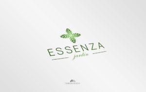 Logo Essenza Jardin - Diseño por Marielba Moreno Diseño Gráfico