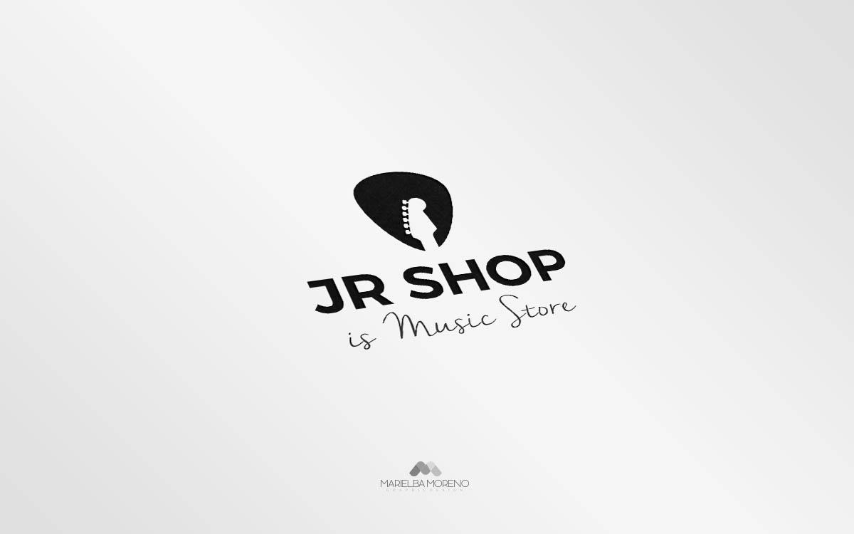 Logo JR Shop - Diseño por Marielba Moreno Diseño Gráfico