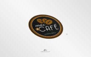 Logo Más Café - Diseño por Marielba Moreno Diseño Gráfico