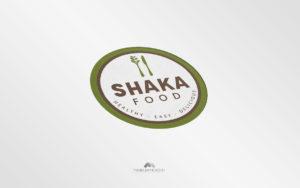 Logo Shaka Foode - Diseño por Marielba Moreno Diseño Gráfico