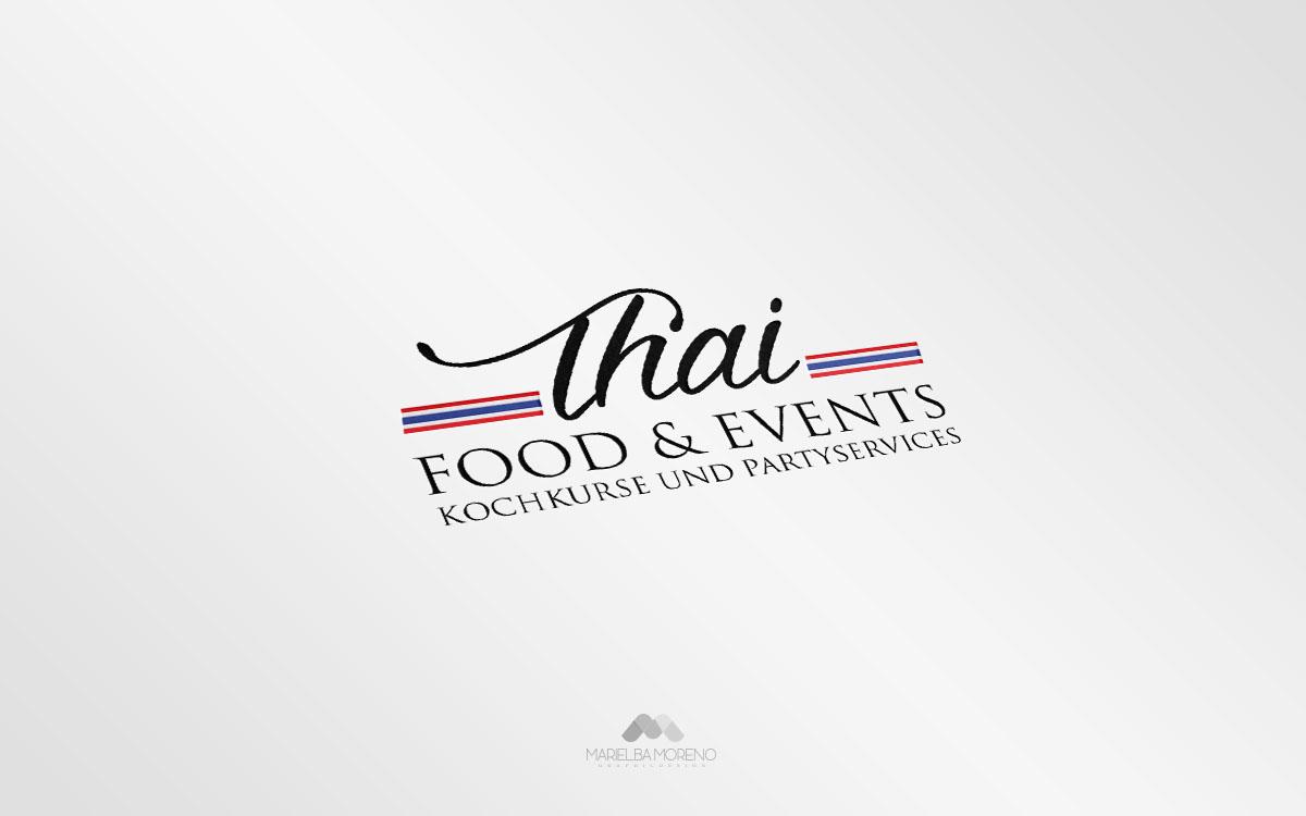 Logo Thai Food & Events - Diseño por Marielba Moreno Diseño Gráfico