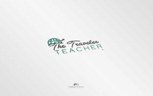 Logo The traveler teacher - Diseño por Marielba Moreno Diseño Gráfico