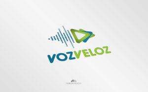 Logo Voz Veloz - Diseño por Marielba Moreno Diseño Gráfico