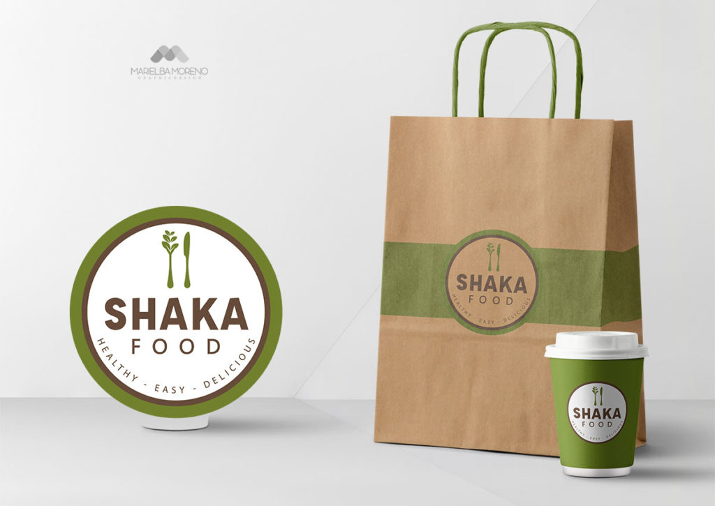 Logo y Empaques de la empresa Shaka Food - Diseño por Marielba Moreno Diseño Gráfico