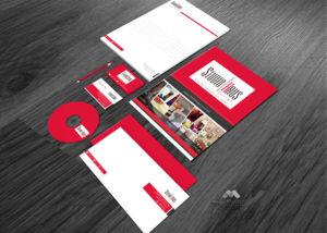 Papelería de la empresa StudioHaus - Diseño por Marielba Moreno Diseño Gráfico